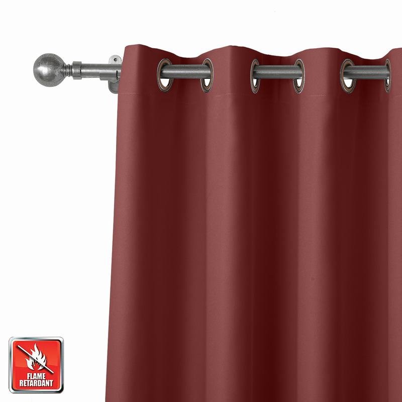 Flame Retardant Fireproof Curtain Thermal Insulated Drapery REGAL