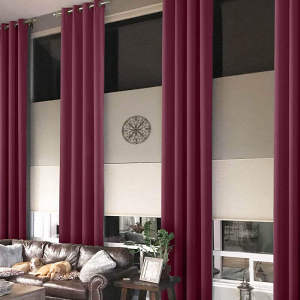Loft Curtain Polyester Drapes Thermal Insulated Blackout Curtain Heavy Weight PAZ