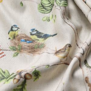 LUNA Pastoral Print Fabric Swatch Polyester Cotton, Refundable For Order Amount Over $399