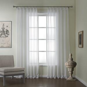 Mia White Tulle Curtain Drapery