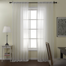 Jolly White Tulle Curtain Drapery