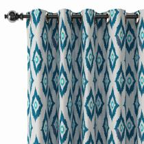 Abstract Print Polyester Linen Curtain Drapery BRENDA