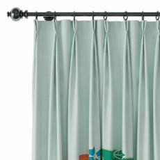 Geometric Print Polyester Linen Curtain Drapery with Privacy Blackout Thermal Lining AILSA