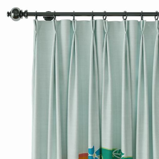 Geometric Print Polyester Linen Curtain Drapery AILSA