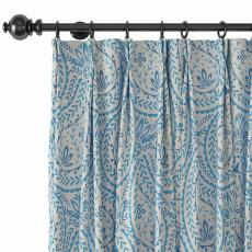 Paisley Print Polyester Linen Curtain Drapery with Privacy Blackout Thermal Lining ARIEL