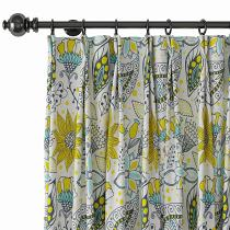 Paisley Floral Print Polyester Linen Curtain Drapery AIMEE