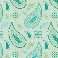 Paisley Print Polyester Linen Curtain Drapery ASHLEY