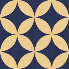 Geometric Print Polyester Linen Curtain Drapery BEATA