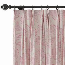 Paisley Print Polyester Linen Curtain Drapery AUDREY