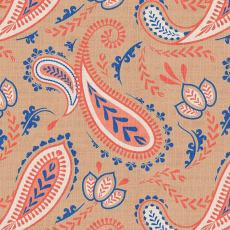 Paisley Curtain Polyester Linen Curtain Drapery ANITA