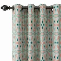 Geometric Print Polyester Linen Curtain Drapery ADELINE