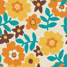 Floral Print Polyester Linen Curtain Drapery BECKY