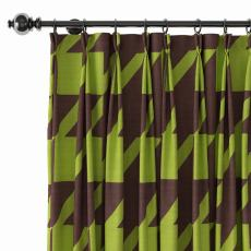 Abstract Print Polyester Linen Curtain Drapery with Privacy Blackout Thermal Lining BETTE