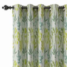 Floral Print Polyester Linen Curtain Drapery BLAKE