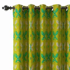 Animals Print Polyester Linen Curtain Drapery with Privacy Blackout Thermal Lining CECIL