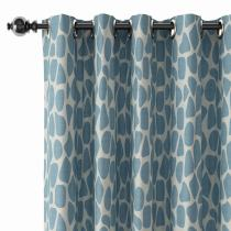 Abstract Print Polyester Linen Curtain Drapery CARL