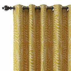 Nature Print Polyester Linen Curtain Drapery with Privacy Blackout Thermal Lining CANDICE