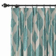 Geometric Print Polyester Linen Curtain Drapery COLIN