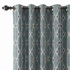 Geometric Print Polyester Linen Curtain Drapery COLE