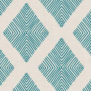 Geometric Print Polyester Linen Curtain Drapery COLIN