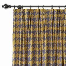 Abstract Print Polyester Linen Curtain Drapery with Privacy Blackout Thermal Lining CLARK