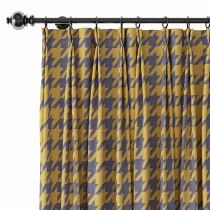 Abstract Print Polyester Linen Curtain Drapery CLARK