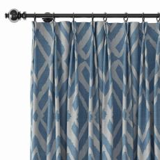 Geometric Print Polyester Linen Curtain Drapery with Privacy Blackout Thermal Lining CAMILLE