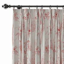 Aquarelle Print Polyester Linen Curtain Drapery BERT