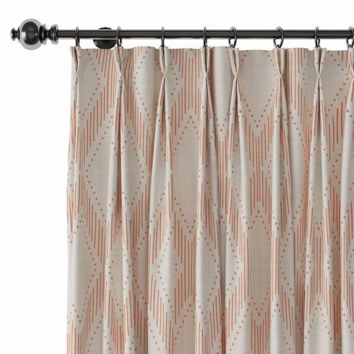 Geometric Print Polyester Linen Curtain Drapery CAROL