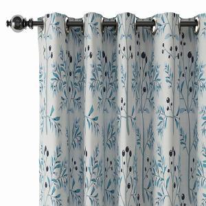 Floral Print Polyester Linen Curtain Drapery CASSANDRA