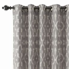 Abstract Print Polyester Linen Curtain Drapery with Privacy Blackout Thermal Lining CHLOE