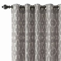 Abstract Print Polyester Linen Curtain Drapery CHLOE