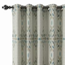 Abstract Print Polyester Linen Curtain Drapery CINDY