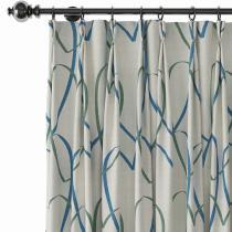 Love Print Polyester Linen Curtain Drapery CHRIS
