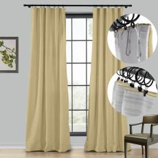 LIZ 4-in-1 Header Type Polyester Linen Curtain Drapery Custom