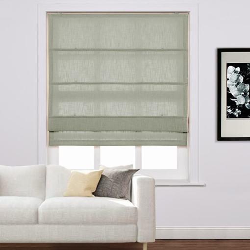 LIZ Polyester Linen Roman Shade