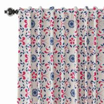 Floral Print Polyester Linen Curtain Drapery OPHELIA