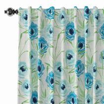 Floral Print Polyester Linen Curtain Drapery BENJIMAN