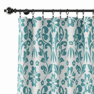 Nature Print Polyester Linen Curtain Drapery ARLO
