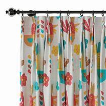 Animals Print Polyester Linen Curtain Drapery HARRY