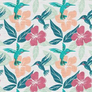 Floral Print Polyester Linen Curtain Drapery FRANCA