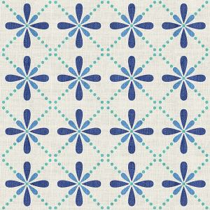 Geometric Print Polyester Linen Curtain Drapery CAMELLIA