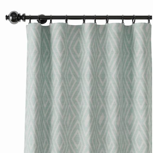 Geometric Print Polyester Linen Curtain Drapery ATELIER