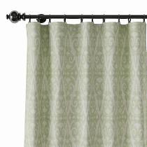 Geometric Print Polyester Linen Curtain Drapery EMPORIO