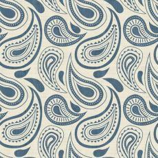 Paisleys Print Polyester Linen Curtain Drapery DMAIOSH