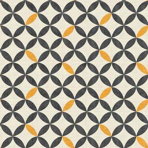 Geometric Print Polyester Linen Curtain Drapery SABRINA