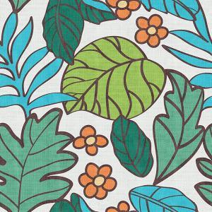 Nature Print Polyester Linen Curtain Drapery WACHUA
