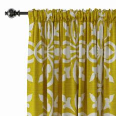 Abstract Print Polyester Linen Curtain Drapery YULAN