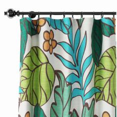 Nature Print Polyester Linen Curtain Drapery WACHUA