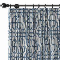 Trellis Window Curtain Lattice Drapery THEA